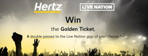Hertz Australia – Win 1 of 6 double passes to any Live Nation events of your choice