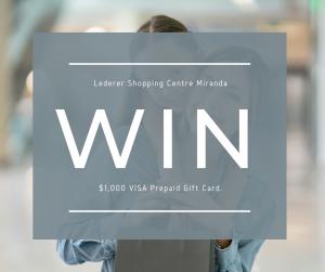 Lederer Miranda – Win a $1,000 Visa prepaid gift card | Australian