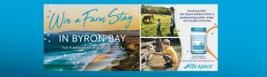 Life Space – Win a Farm Stay Holiday for 4 in Byron Bay (flights included)