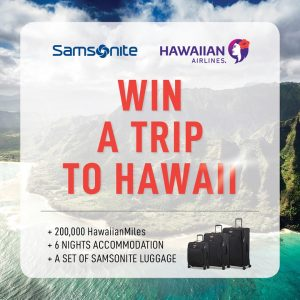 Samsonite Australia & New Zealand – Win a trip for 2 to Honolulu PLUS a set of Spark ECO luggage collection