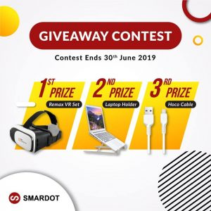 Smardot – Win 1 of 3 prizes of gadgets & accessories