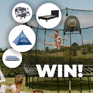 Springfree Trampoline & Mocka – Win a fabulous prize package valued at up to $3,584