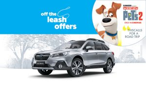 Subaru – Test Drive and Win a trip to Universal Studios Hollywood to experience The Secret Life of Pets: Off the Leash