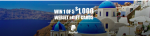 Webjet – Win 1 of 5 Webjet eGift cards