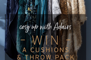Adairs – Win an Adults Fur Cushions and Throw Pack for Winter