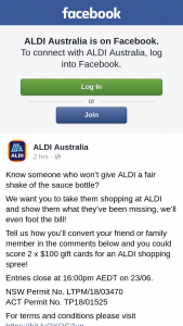 Aldi Australia – Win The Prize