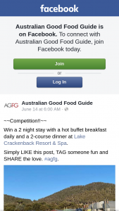 Australian Good Food Guide – Win a 2 Night Stay With a Hot Buffet Breakfast Daily and a 2-course Dinner at Lake Crackenback Resort & Spa