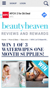 Beautyheaven – Win 1 of 3 Waterwipes One Month Supplies
