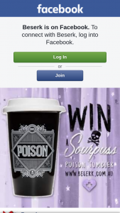 Beserk – Win a Sourpuss Poison Tumbler From Wwwbeserk (prize valued at $27)