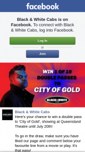 Black & White Cabs Brisbane – Win a Double Pass to 'city of Gold' Showing at Queensland Theatre Until July 20th
