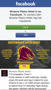 Browns Plains Hotel – Win 1 of 2 $50 Venue Vouchers to Spend Here on Saturday Night During The Game