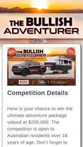 Caravan Towing Guide – The Bullish Adventurer I Would (prize valued at $115,000)