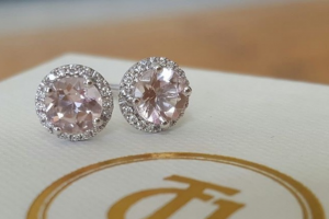 Catherine Trenton Jewellery – a Pair of Our Ctj 0.10tcw Diamond and 0.80tcw Morganite 'embrace' Earrings In Solid 18ct White Gold (prize valued at $550)