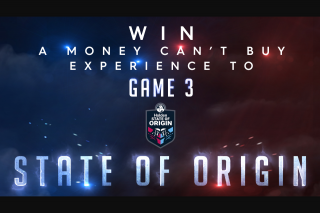 Channel nine news – Win a Money Can't Buy Experience Including a Coin Toss and Match Ball Delivery (prize valued at $200)