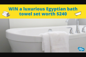 Dishmatic – Win a Luxurious Egyptian Bath Towel Set Worth $240 Including (prize valued at $240)