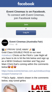 Event Cinemas Australia Fair – Win a Gold Class Double Pass to Catf's Late Night Screening