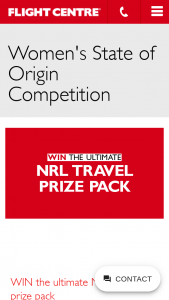 Flight Centre – Win The Ultimate Nrl Travel Prize Pack