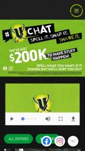 Frucor Suntory Beverages & V Energy – Upload & Share #V to – Win a Share In $200k (prize valued at $200,000)