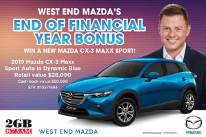 2GB – Win a 2019 Mazda Cx-3 Maxx Sport Promotion Terms and Conditions (prize valued at $28,090)