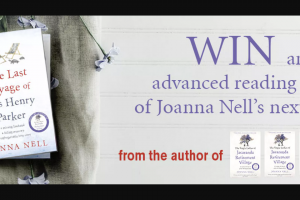 Hachette books – Win an Advanced Reading Copy of Joanna Nell's New Book