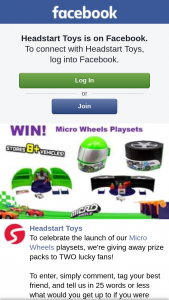 Headstart Toys – Prize Packs to Two Lucky Fans