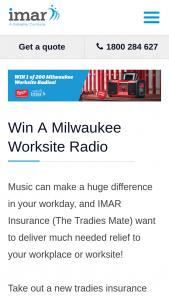 Imar Insurance – Win a Milwaukee Worksite Radio