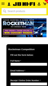 JB HiFi Pre-order Rocketman for a chance to – Win Concert Tickets (prize valued at $990)