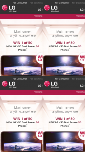 LG – – so You Could Soon Be The Proud Owner of Not One (prize valued at $86,400)
