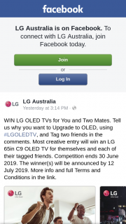 LG – Win Lg Oled Tvs for You and Two Mates (prize valued at $19,197)