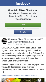 Mountain Bikes Direct – Win a Steve Peat-Signed Uswe Airborne-9 Hydration Pack