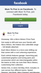 Mum to Five – Win a Micro Motorz Prize Pack