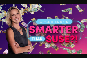 Nova 106.9FM Do you think you're Smarter Than Suse – Competition (prize valued at $10,000)