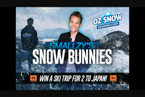 Nova FM Smallzy's Snow Bunnies – Win a Ski Trip for Two to Japan