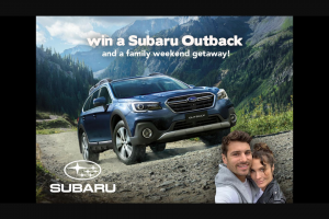 Nova FM – Win a Subaru OuTBack & a Family Getaway (prize valued at $50,990)