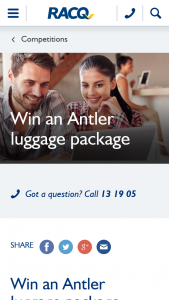 RACQ – Win an Antler Luggage Package and Six Runners Up a Juno 2 4w Large Roller Case (prize valued at $2,253)
