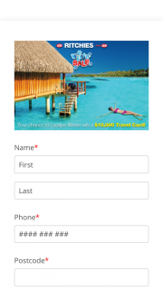 Ritchies – Win 1 X Travel Gift Card Valued at $10000aud (prize valued at $10,000)