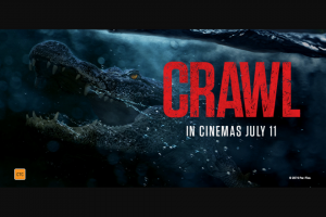 Screen Realm – Win One of Ten Double Passes to See Crawl In Cinemas…