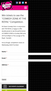 "Sit Down Comedy Club – Tickets to See The ""comedy Zone at The Royal"" Competition"
