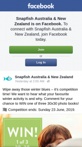 Snapfish – Win One of Three 30×30 Photo Books