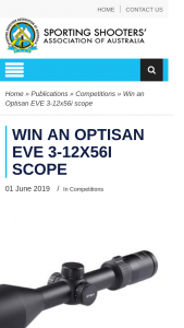 SSAA – Win an Optisan Eve 3-12x56i Scope (prize valued at $500)