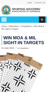 SSAA – Win Moa & Mil Sight-In Targets (prize valued at $75.8)