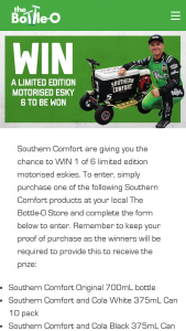 The Bottle O – Win 1 of 6 Limited Edition Motorised Eskies (prize valued at $4,074)