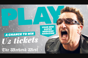 The West Australian – Win 2 Tickets to U2.