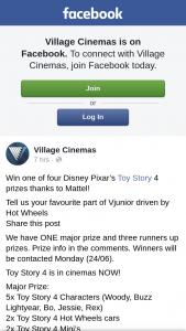 Village Cinemas – Win One of Four Disney Pixar's Toy Story 4 Prizes Thanks to Mattel