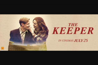 Visa Entertainment – Win 1 of 20 Double Passes to The Keeper (prize valued at $800)