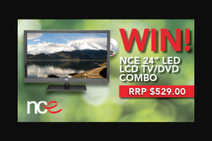 WHATS UP DOWNUNDER & NCE have given us a beautiful 24″ TV to – Win a Nce 24′ Full Hd Tv/DVD Combo (prize valued at $529)