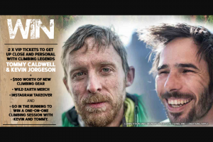 Wild Earth – Win 2 VIP Tickets to Meet Climbing Legends Tommy Caldwell & Kevin Jorgeson Live In Sydney