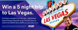 3M – Win a trip for 2 to attend the SEMA Show 2019 in Las Vegas