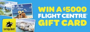 Cartridge World – Win a $5,000 Flight Centre gift card
