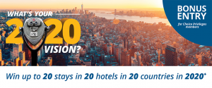 Choice Hotels – Win a major prize of a trip around the world OR 1 of 7 minor prizes